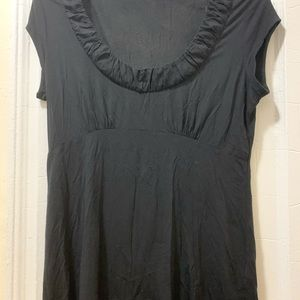 Banana Republic black shirt w/low neckline. Large